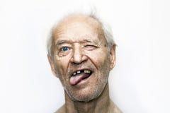 Un vieil homme provoquant Photographie stock libre de droits
