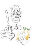 Un viejo hombre con una pera Imágenes de archivo libres de regalías