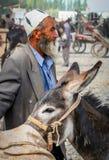 Un viejo hombre del Uighur Foto de archivo