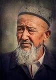 Un viejo hombre del Uighur Imagen de archivo libre de regalías