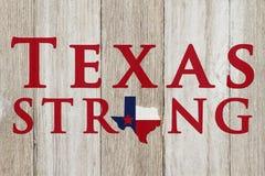 Un viejo mensaje rústico de Texas Strong Fotos de archivo libres de regalías