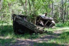 Un viejo naufragio o naufragio abandonado Imagen de archivo
