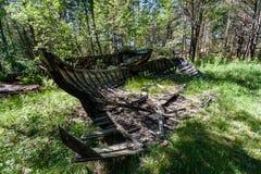 Un viejo naufragio o naufragio abandonado Fotos de archivo