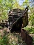 Un viejo naufragio o naufragio abandonado Imagen de archivo libre de regalías
