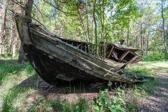 Un viejo naufragio o naufragio abandonado Imagenes de archivo
