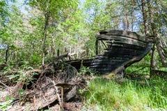 Un viejo naufragio o naufragio abandonado Foto de archivo