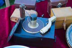 Un viejo tocadiscos del vintage Fotografía de archivo