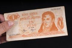 Un vieux billet de banque argentin Image libre de droits