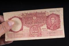 Un vieux billet de banque argentin Photographie stock