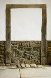 Un vieux bricked. image libre de droits