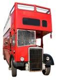 Un vieux bus rouge de Londres. Photos libres de droits