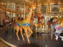Un vieux carrousel restauré Image libre de droits