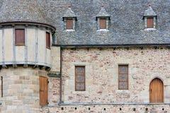 Un vieux château dans Brittany, France Image libre de droits