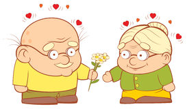 Un vieux couple dans l'amour Image stock