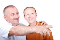 Un vieux couple heureux image libre de droits