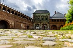 Un vieux manoir à Moscou image libre de droits
