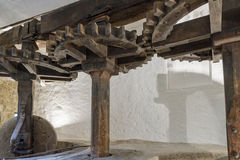 Un vieux moulin olive en Corse du nord Photographie stock