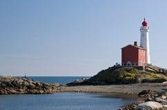 Un vieux phare sur la côte ouest Images libres de droits