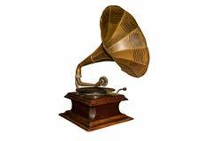 Un vieux phonographe - d'isolement photo stock