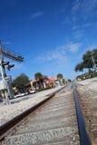 Un vieux rail croisant Melbourne du centre, la Floride Photo stock