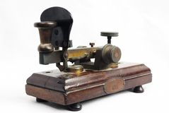 Un vieux télégraphe image libre de droits