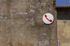 un vieux téléphone européen Photo libre de droits