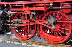 Un vieux train fonctionnant grand de vapeur photo libre de droits