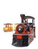 Un vieux train fonctionnant grand de vapeur Photo stock