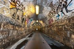 Un vieux tunnel industriel Photographie stock libre de droits