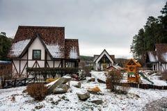 Un village allemand traditionnel Images libres de droits