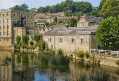 Un village anglais pendant l'été Image stock