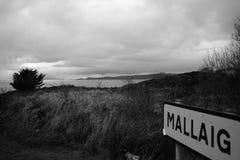 Un village minuscule dans les montagnes écossaises Photographie stock libre de droits