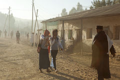 Un village éthiopien Image stock