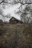 Un villaggio abbandonato sulla collina Immagini Stock