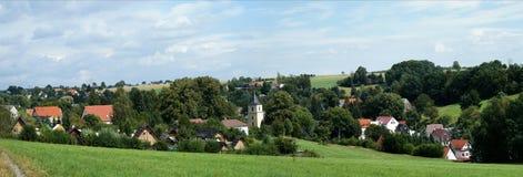 Un villaggio del Saxon in Germania Fotografia Stock Libera da Diritti