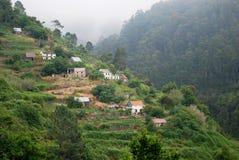Un villaggio nell'isola della Madera Fotografia Stock