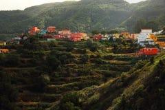 Un villaggio pacifico nelle montagne di Tenerife Fotografia Stock Libera da Diritti