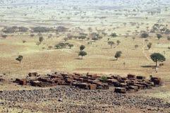 Un villaggio rurale nel Mali Fotografia Stock