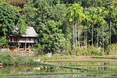 Un villaggio rurale tradizionale in Mai Chau, Vietnam fotografia stock