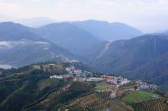 Un villaggio sulla montagna famosa in Taiwan Immagini Stock Libere da Diritti