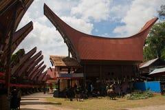 Un villaggio tradizionale in Tana Toraja, Indonesia Immagini Stock