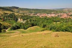 Un villaggio transylvanian Immagine Stock