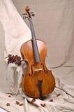 Un violoncello nel fondo beige Immagini Stock Libere da Diritti
