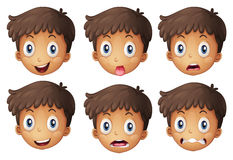 Un visage d'un garçon illustration stock