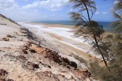 Un visage de falaise de paysage lunaire au coup de Carlos Sand photo stock