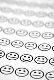 Un visage de sourire Image stock
