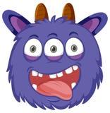Un visage espiègle de monstre illustration de vecteur