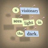 Un visionnaire voit la lumière dans l'obscurité illustration de vecteur