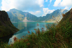 Un volcan actif Pinatubo, Philippines Photo stock