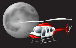 Un volo dell'elicottero Fotografia Stock Libera da Diritti
